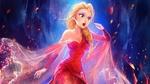 Обои Огненная Эльза / Elsa, героиня мультфильма Холодное сердце / Frozen
