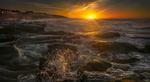 Обои Рассвет на пляже Уитли-Бэй, фотограф Ray Bilcliff