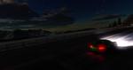 Обои Porsche / Порше мчится по ночной дороге