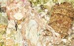Обои Vocaloid Megurine Luka / Мегурин Люка с закрытыми глазами держит ключик от потайной двери в розовом саду