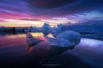 Обои Ледяные глыбы в воде, фотограф Juan Pablo de Miguel