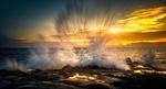 Обои Волны на пляже Уитли-Бэй, фотограф Ray Bilcliff