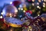 Обои Новогодние принадлежности в боиках