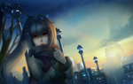 Обои Плачущая Isla / Айла из аниме Plastic Memories / Пластиковые воспоминания, by huykho192