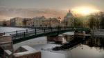 Обои Пантелеймоновский мост на реке фонтанка, Санкт-Петербург, Россия