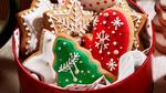 Обои Новогодние печеньки в красной баночке