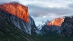 Обои Вид на гору Эль-Капитан / El Capitan под облачным небом в национальном парке Йосемити / Yosemite, штат Калифорния / California, США / USA