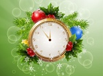 Обои Часы, показывающие время приближения Нового года