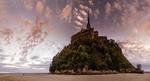 Обои Крепость на острове Mont Saint-Michel / Мон Сен-Мишель, фотограф Serge Ramelli