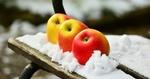 Обои Яблоки на снегу, by congerdesign