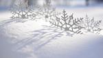 Обои Новогодние снежинки в сугробе