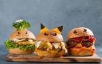 Обои Три гамбургера, украшенных в форме забавных покемонов