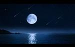 Обои Полная луна на небе и ее отражение на воде, by Ellysiumn