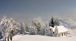 Обои Домик у заснеженных деревьев, Switzerland / Швейцария, фотограф Jacky Kobelt
