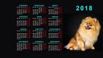 Обои Обои-календарь 2018 г. на монитор 1920х1080 с рыжей собачкой