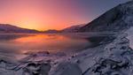 Обои Закат над замерзающим озером, фотограф Jоrn Allan Pedersen