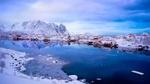 Обои Деревня Reine / Рейне зимой, Norway / Норвегия