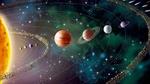 Обои Планеты солнечной системы на фоне боке