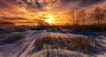 Обои Зимний восход солнца на небольшой реке, фотограф Aleksei Malygin