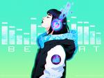 Обои Девушка в неоновых наушниках (Beat), by dNiseb