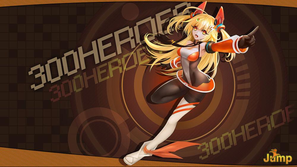 Обои для рабочего стола Аниме-девушка из игры 300 Heroes