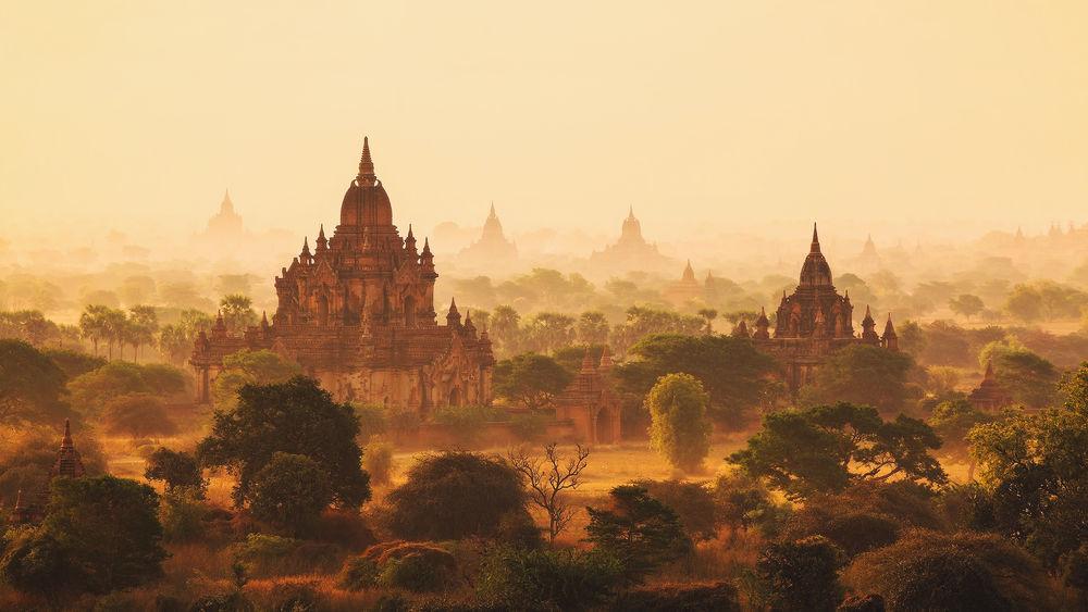 Обои для рабочего стола Баган - древний город тысячи храмов, Бирма (Мьянма)