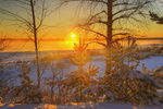 Обои Закат на Вуоксе зимой, фотограф Ed Gordeev