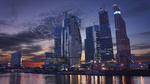 Обои Небоскребы на фоне вечернего неба, Москва, Россия