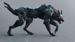 Обои Волк-трансформер с открытой пастью