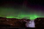 Обои Северное сияние над Skogafoss in Iceland / Скугафосс в Исландии, фотограф Kevin Read