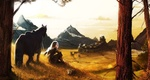 Обои Девушка и лошадь на фоне гор