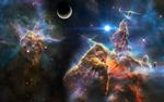 Обои Эмиссионная туманность в созвездии Киль