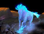 Обои Голубая лошадь в воде, by SJ Jam