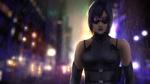 Обои Темноволосая девушка в очках под дождем, by alecyl