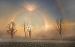 Обои Солнечное гало в зимнем поле, by MiroM