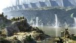 Обои Столкновение цивилизаций, деревенька возле сточных труб мегаполиса