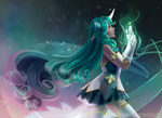 Обои Soraka / Сорака из игры League of Legends / Лига Легенд, by Wingless-sselgniW