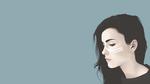 Обои Векторный портрет девушки в профиль