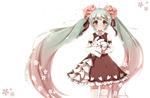 Обои Vocaloid Miku Hatsune / Вокалоид Мику Хацунэ с белым кроликом, by MeluuArts