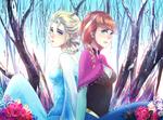 Обои Anna / Анна и Elsa / Эльза из мультфильма Frozen / Холодное сердце в стиле аниме, by ragecndy