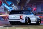 Обои Тюнингованный Range Rover Vogue / Рендж Ровер Вок в ночном городе