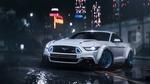Обои Ford Mustang / Форд Мустанг стоит в городе под дождем, из игры Need for Speed: Payback / Жажда скорости: Расплата