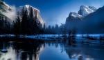 Обои Yellowstone / Йеллоустонский национальный парк зимой