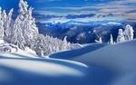 Обои Зимний пейзаж природы в горах