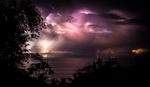 Обои Молнии в ночном небе у берега Costa Rica / Коста-Рики, фотограф Jarrod Lopiccolo