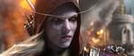 Обои Sylvanas Windrunner / Сильвана Ветрокрылая с огнем в глазах, из игры World of Warcraft / Мир военного ремесла