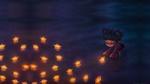 Обои Девочка пускает светящиеся бумажные кораблики, by lilibz