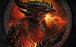 Обои Огнедышащий дракон в пламени, из игры World of Warcraft / Мир военного ремесла
