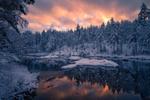 Обои Зима на озере Ringerike, Norway / Ringerike, Норвегия. Фотограф Ole Henrik Skjelstad