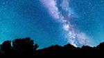 Обои Млечный путь на голубом небе